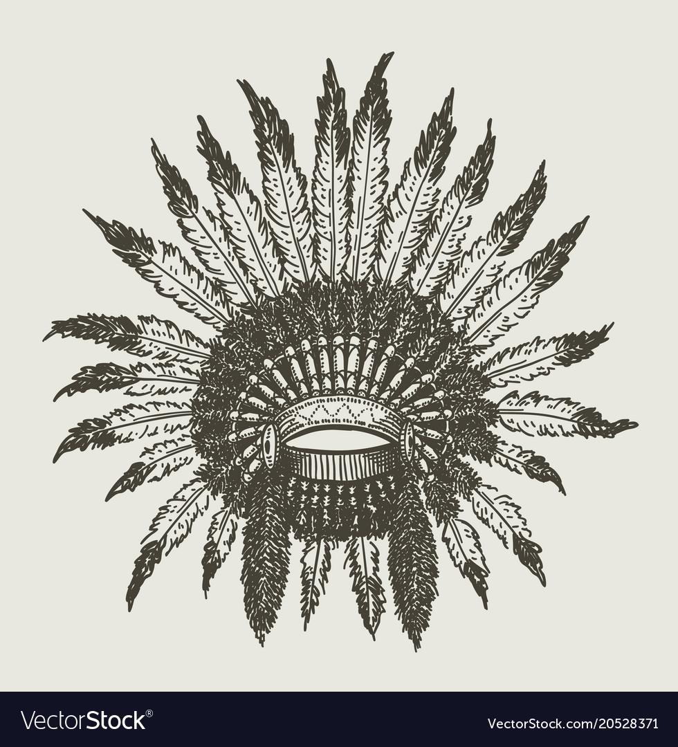 Warchief indian headdress