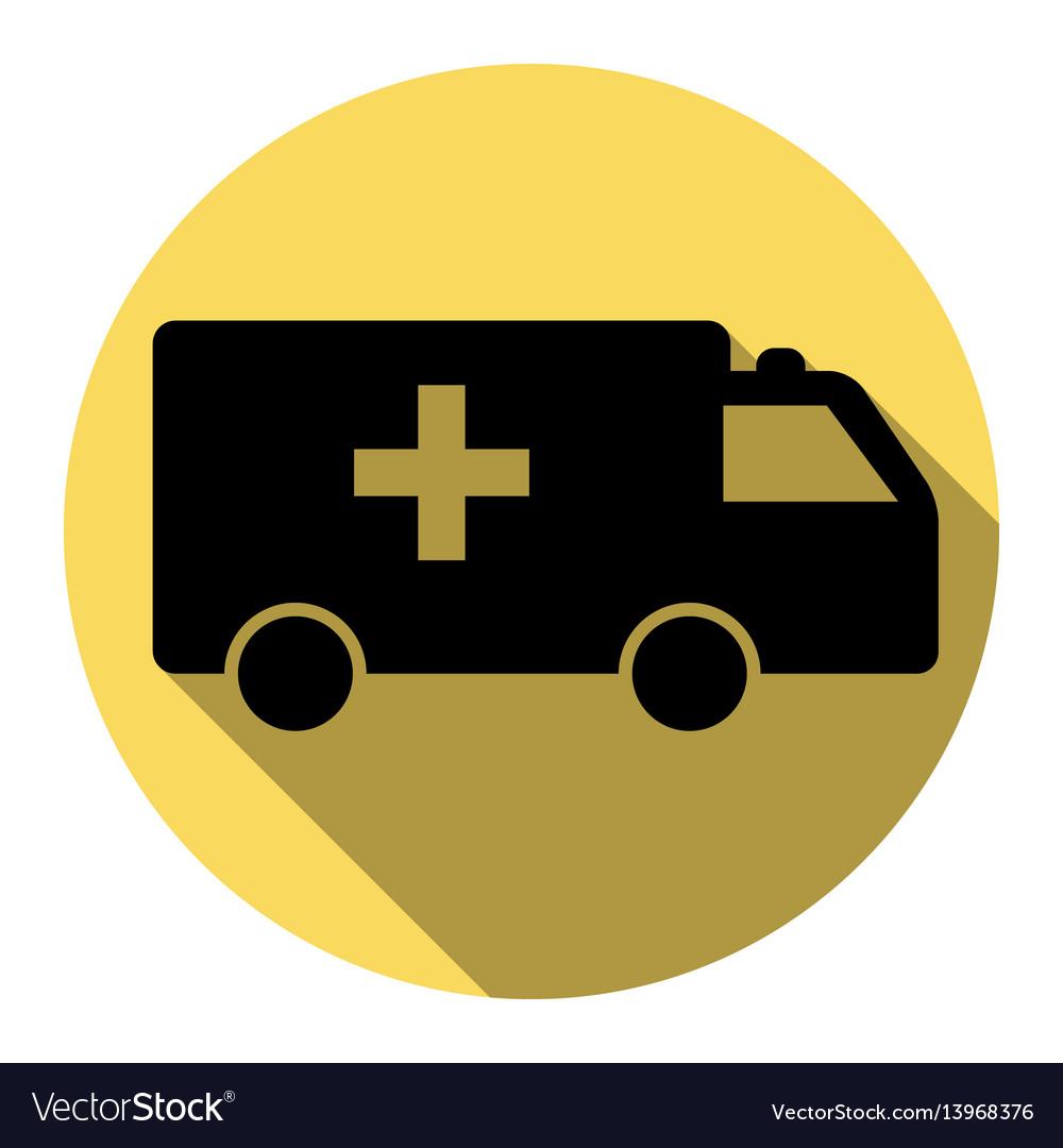 Ambulance sign flat black