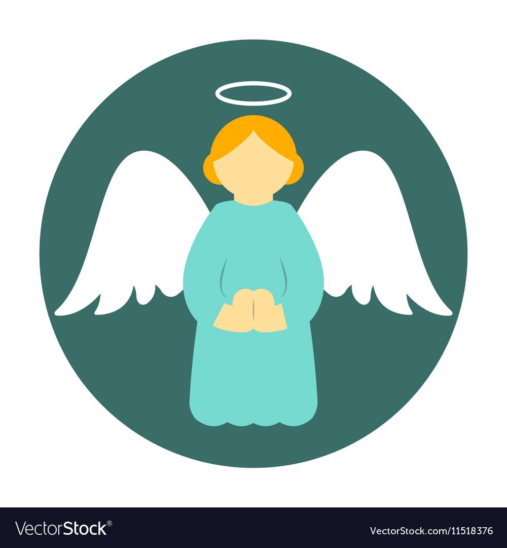 Christmas Angel.Christmas Angel Icon Flat