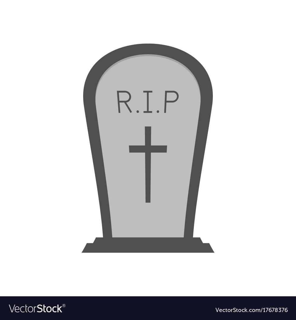 halloween gravestone or tombstone or headstone vector image rh vectorstock com tombstone logo vector tombstone vector art