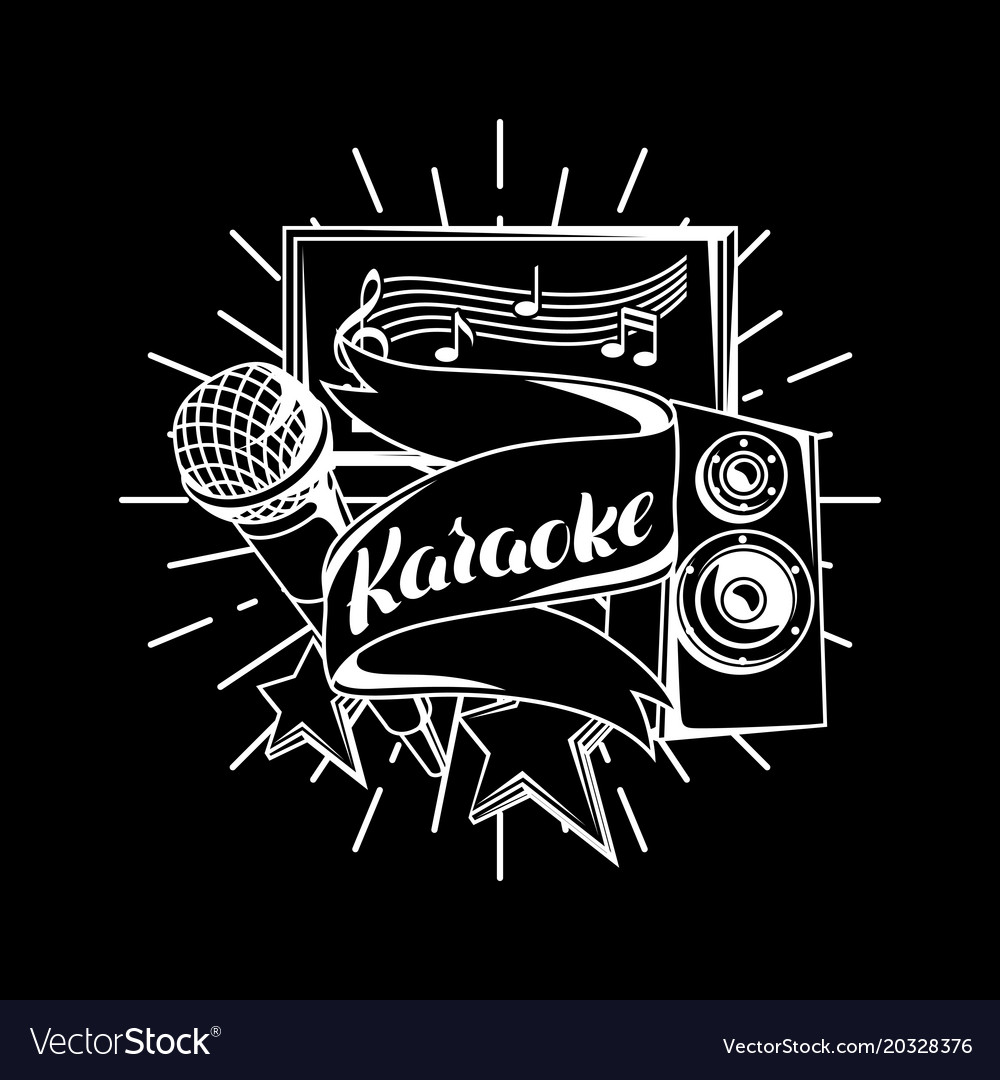 Karaoke Party Design Music Event Background Vector Image