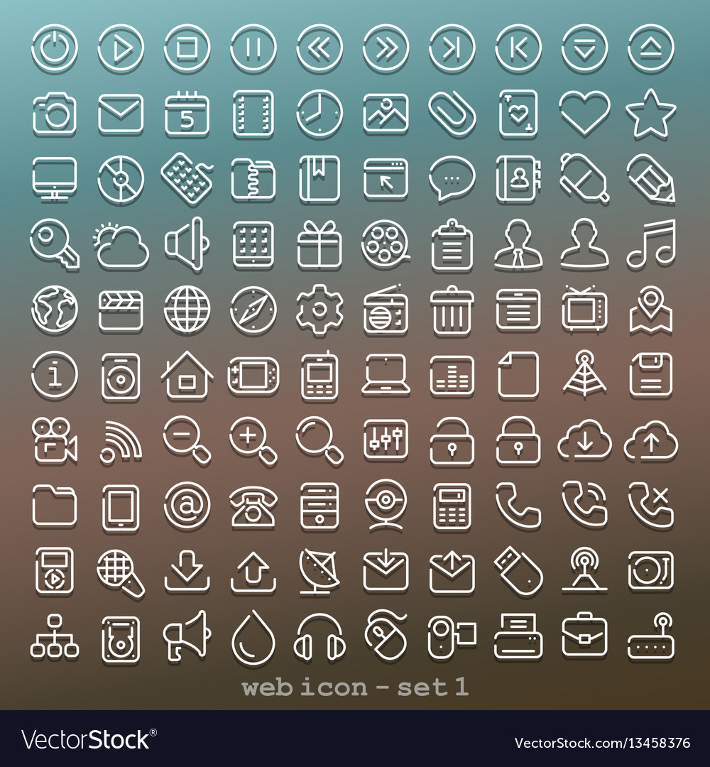 Line web icon - set 1