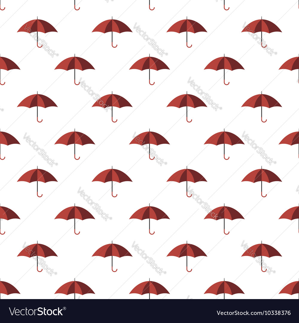 Red umbrella seamless pattern