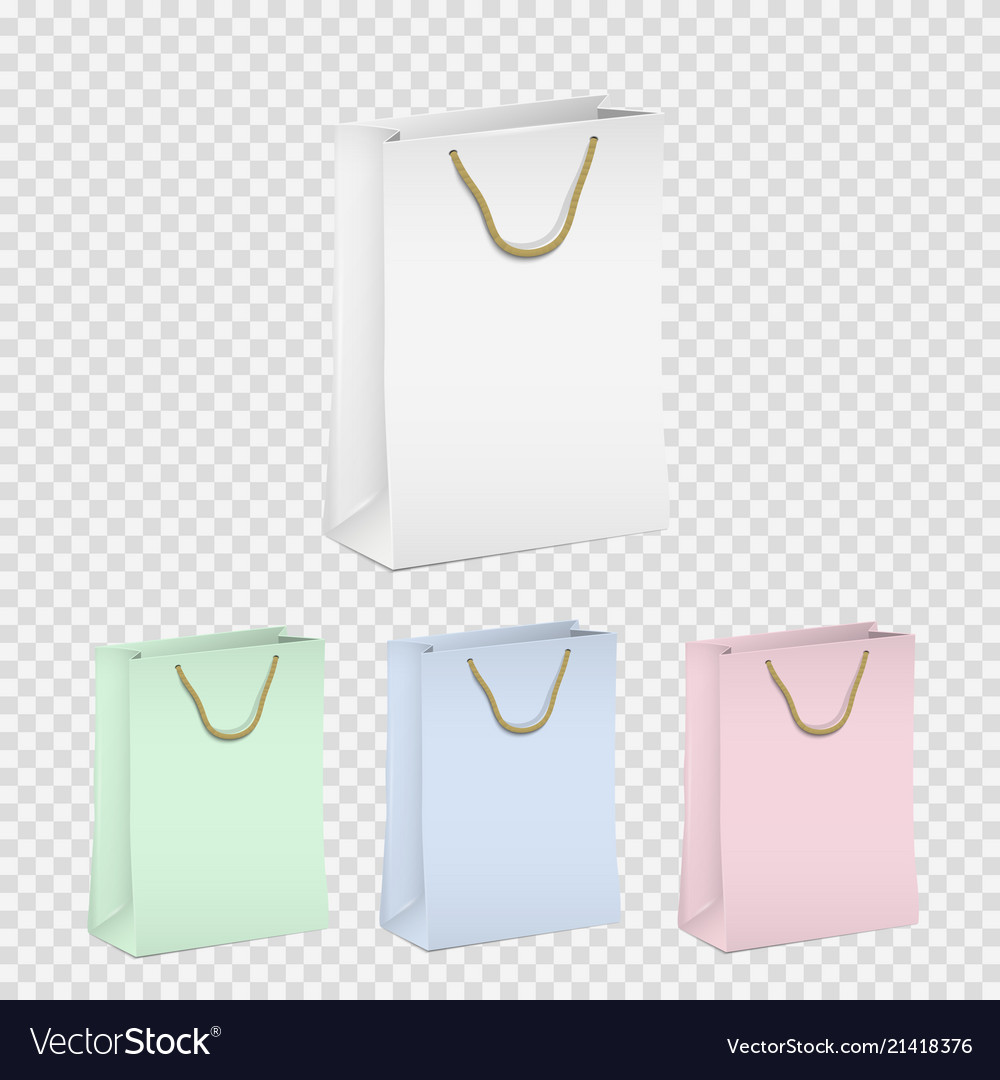 Set of empty shopping paper bags