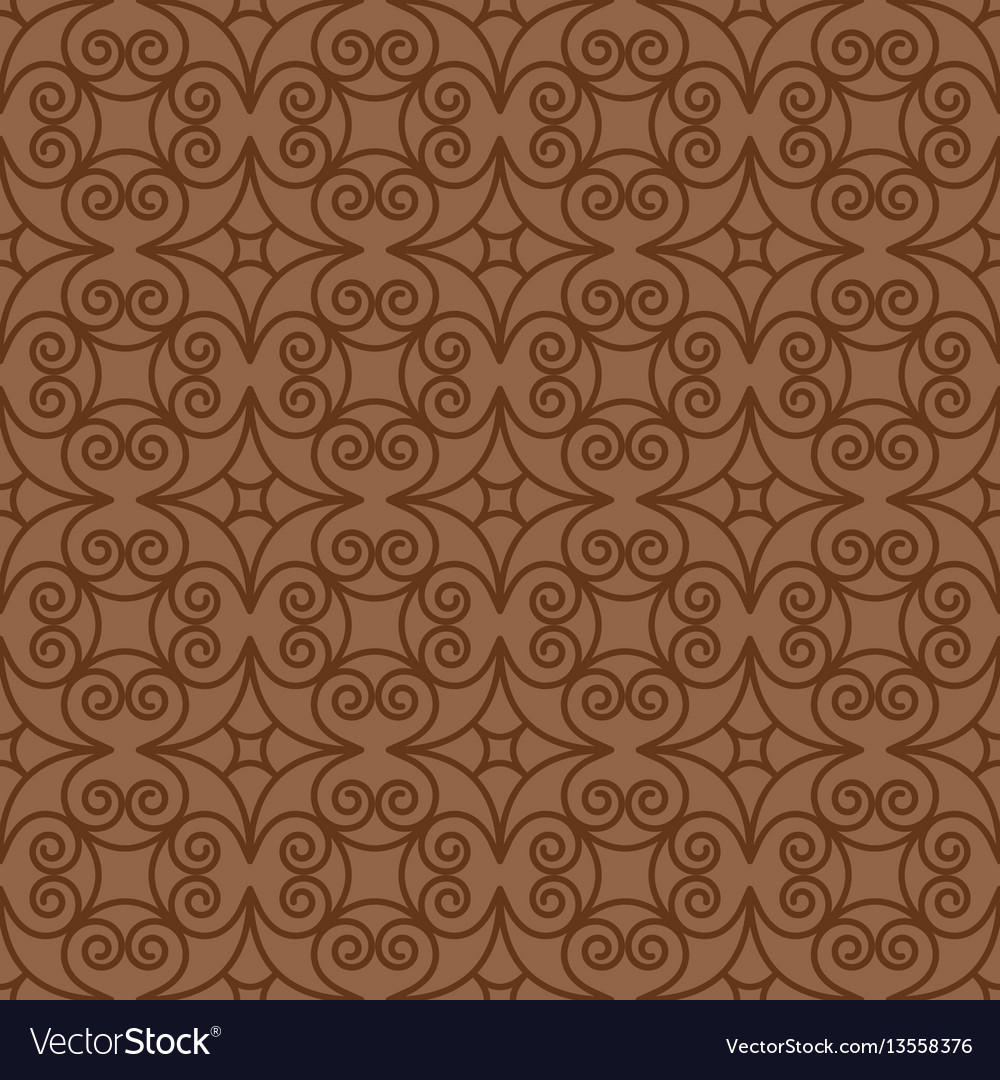 Vintage swirl oriental decorative pattern
