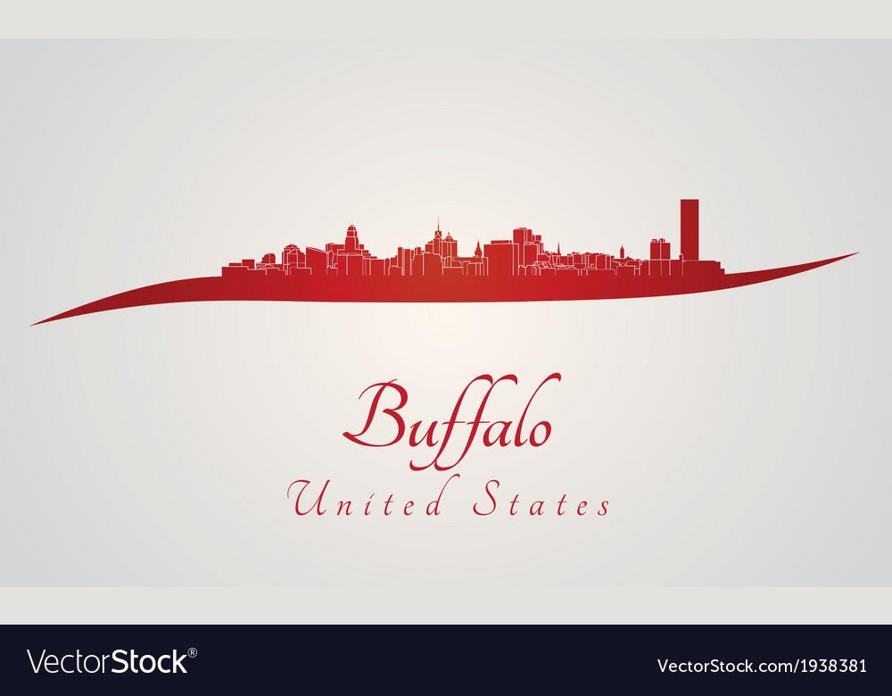 Buffalo skyline in red
