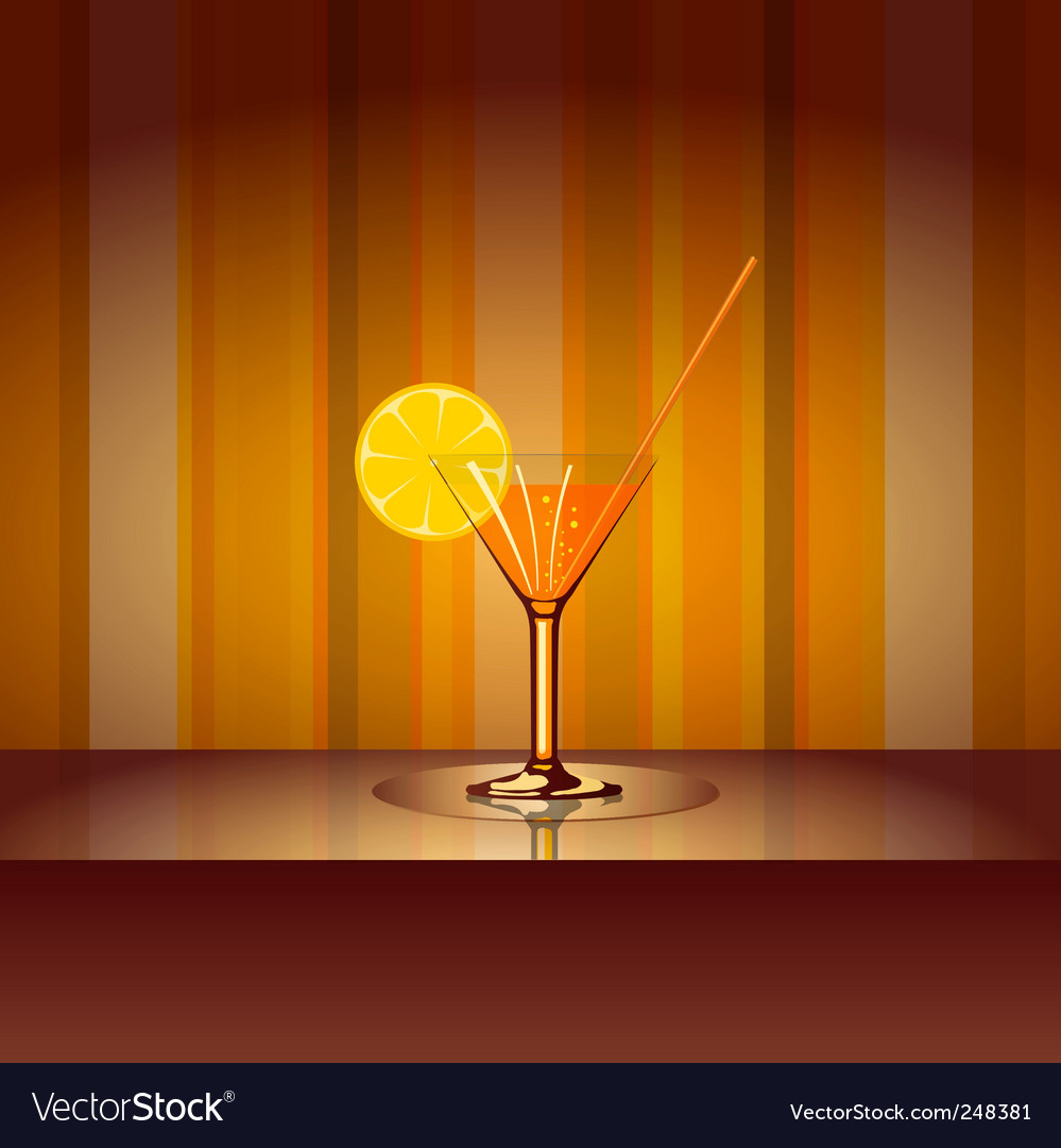 Cocktail with background