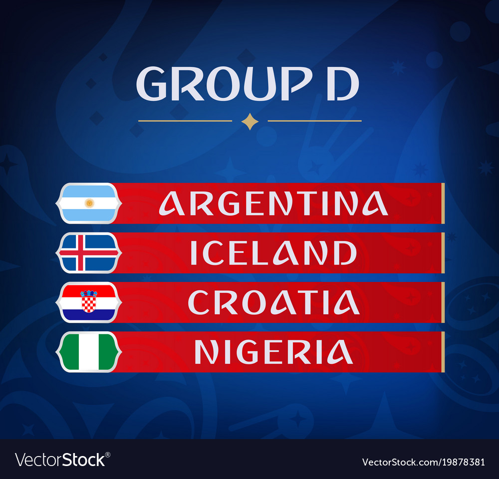 Football championship groups set of national