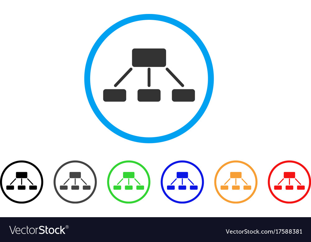 Hierarchy rounded icon