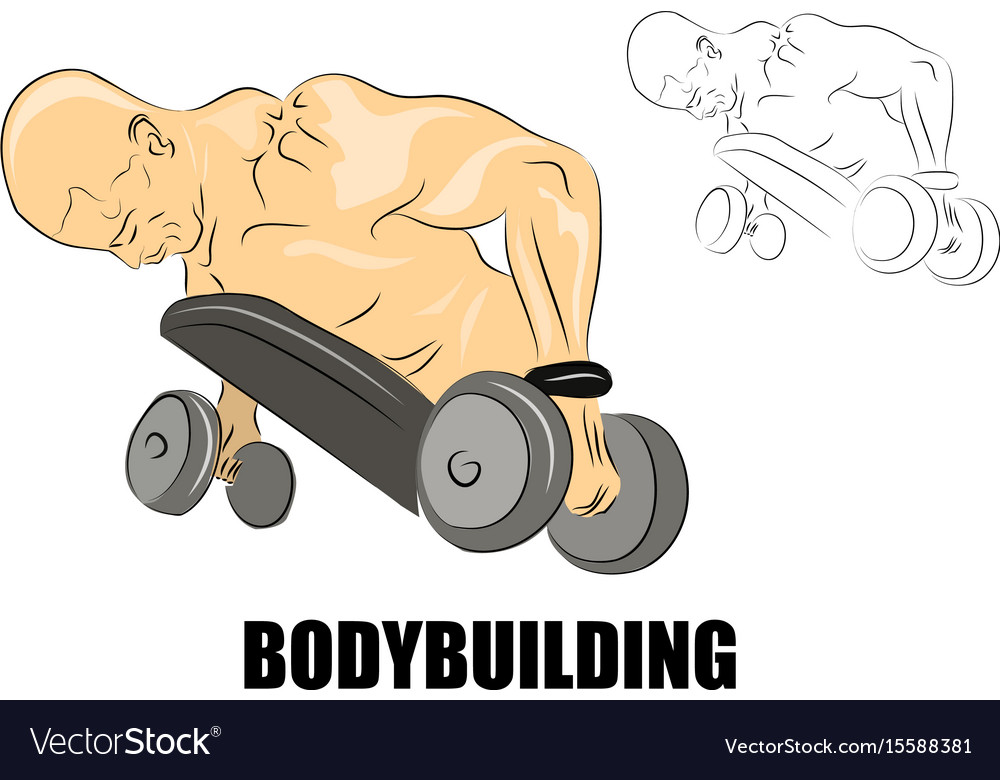Male african-american with dumbbells vector image