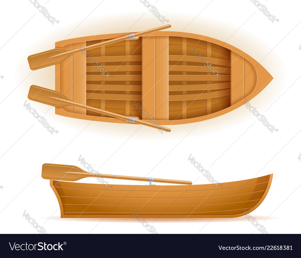 Fishing Boat Clipart Wooden Vector Images 65