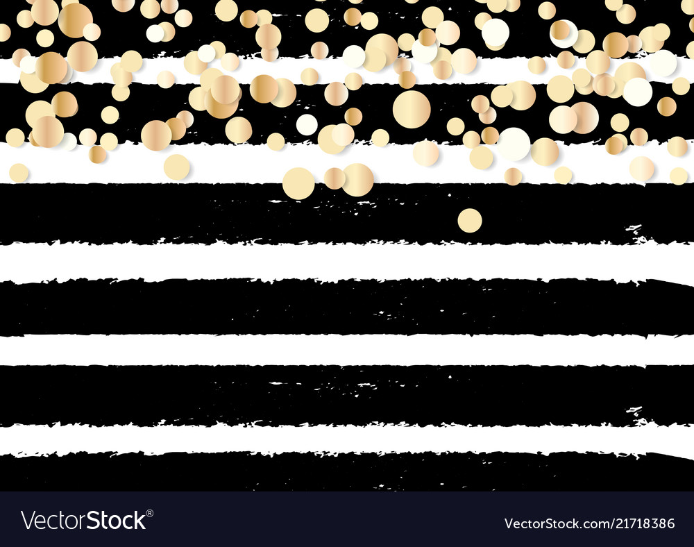 Abstract gold glitter background with polka dot