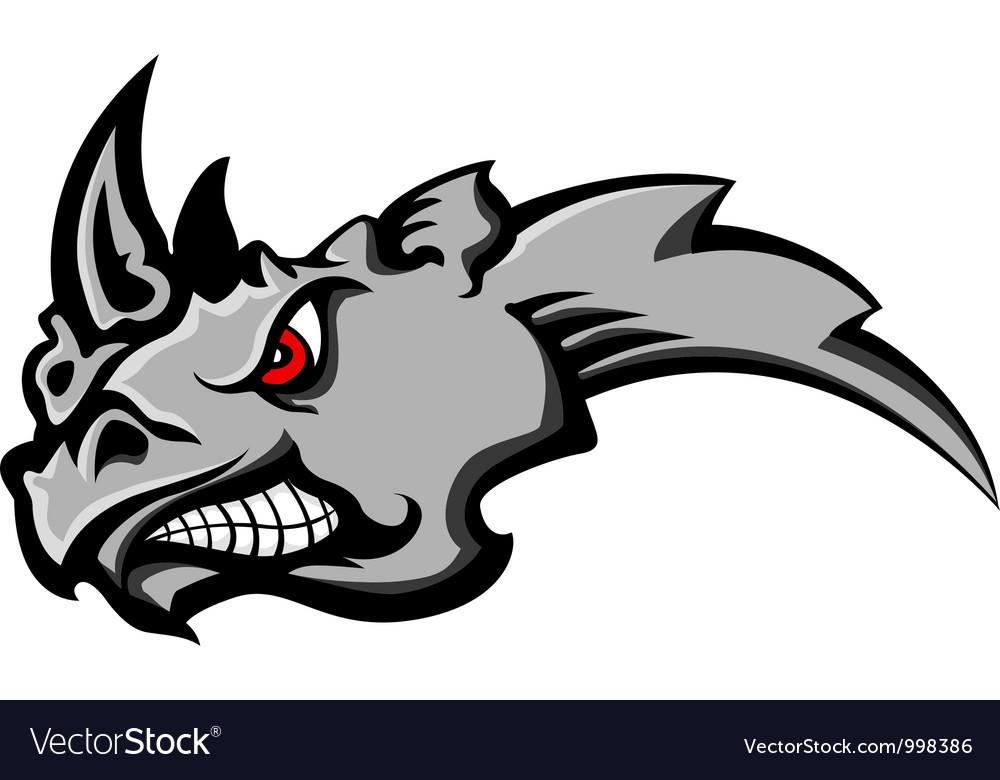 Cartoon Rhino Angry