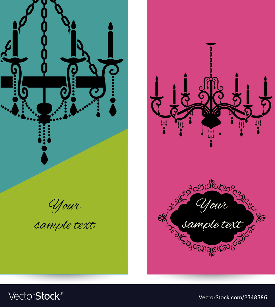 Business card template with chandelier leaflet vector image