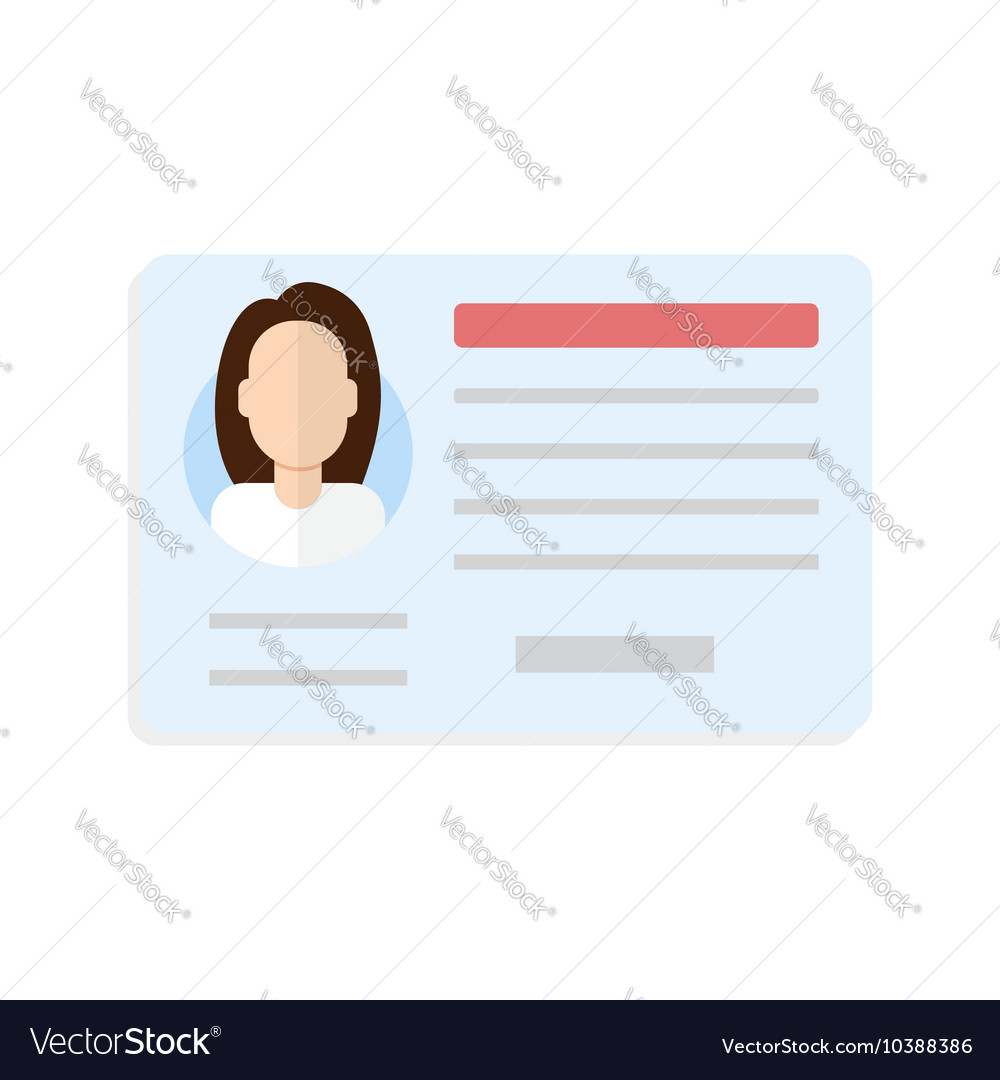 Car driver license woman vector image