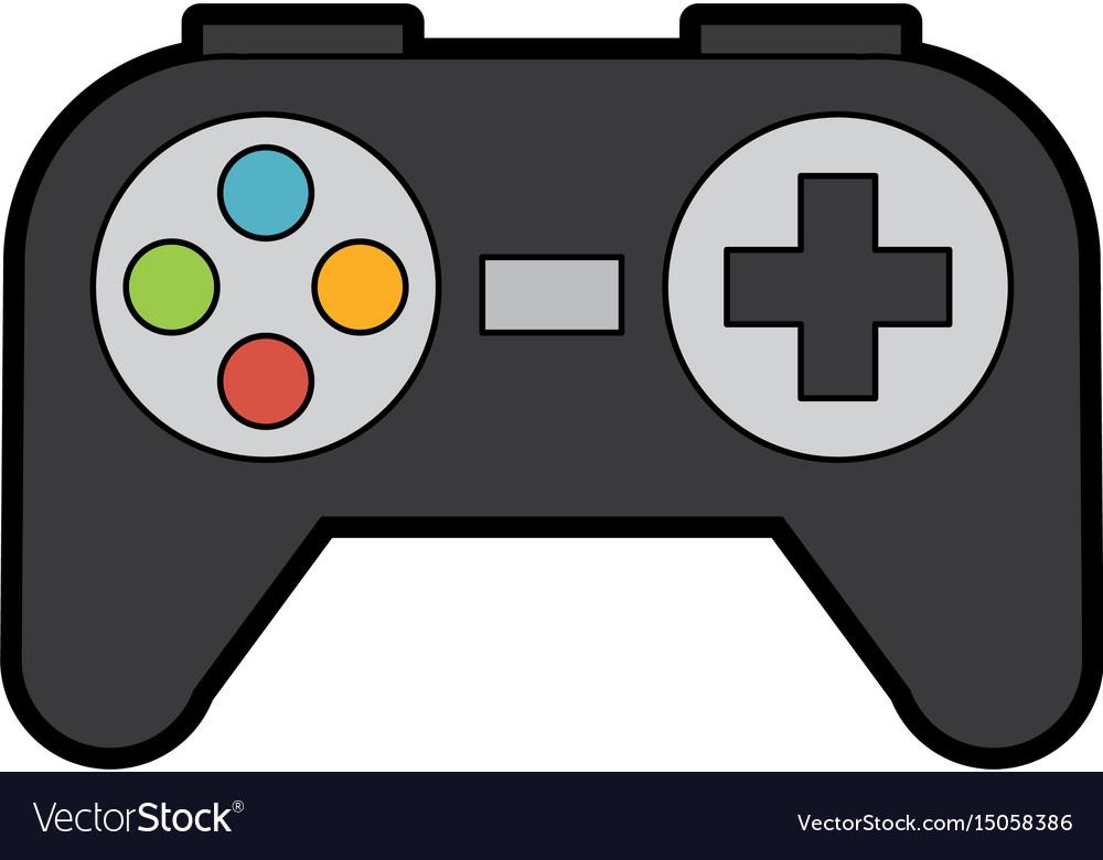 cute control game cartoon royalty free vector image rh vectorstock com how to draw a cartoon video game controller Video Game Controller Clip Art