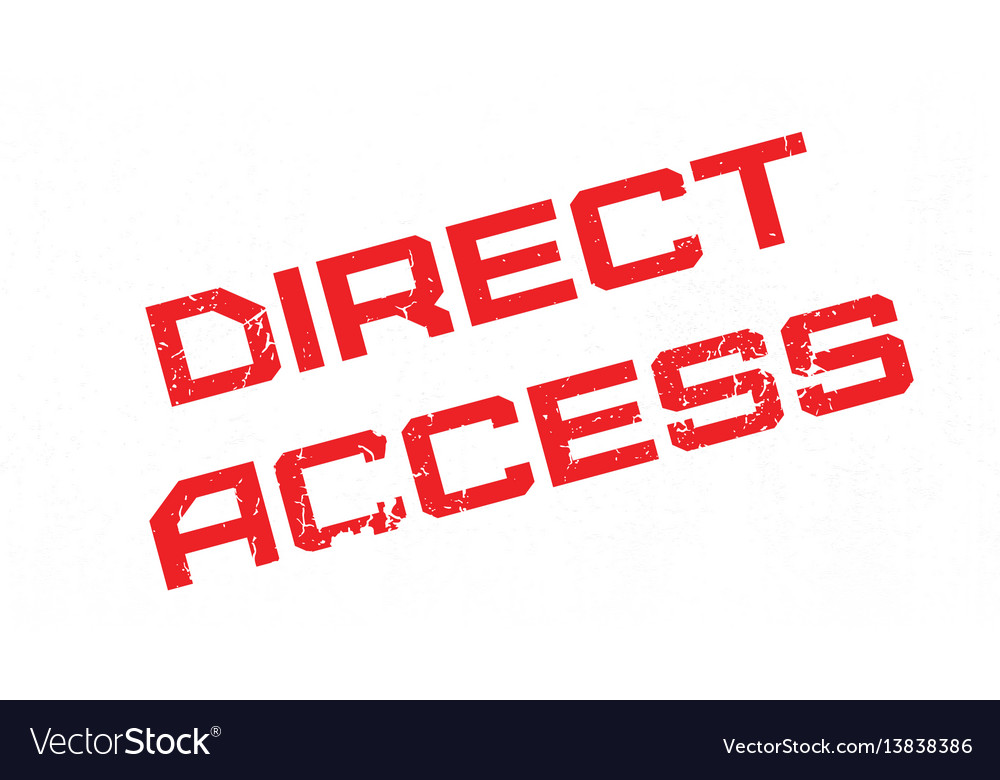 Direct access rubber stamp