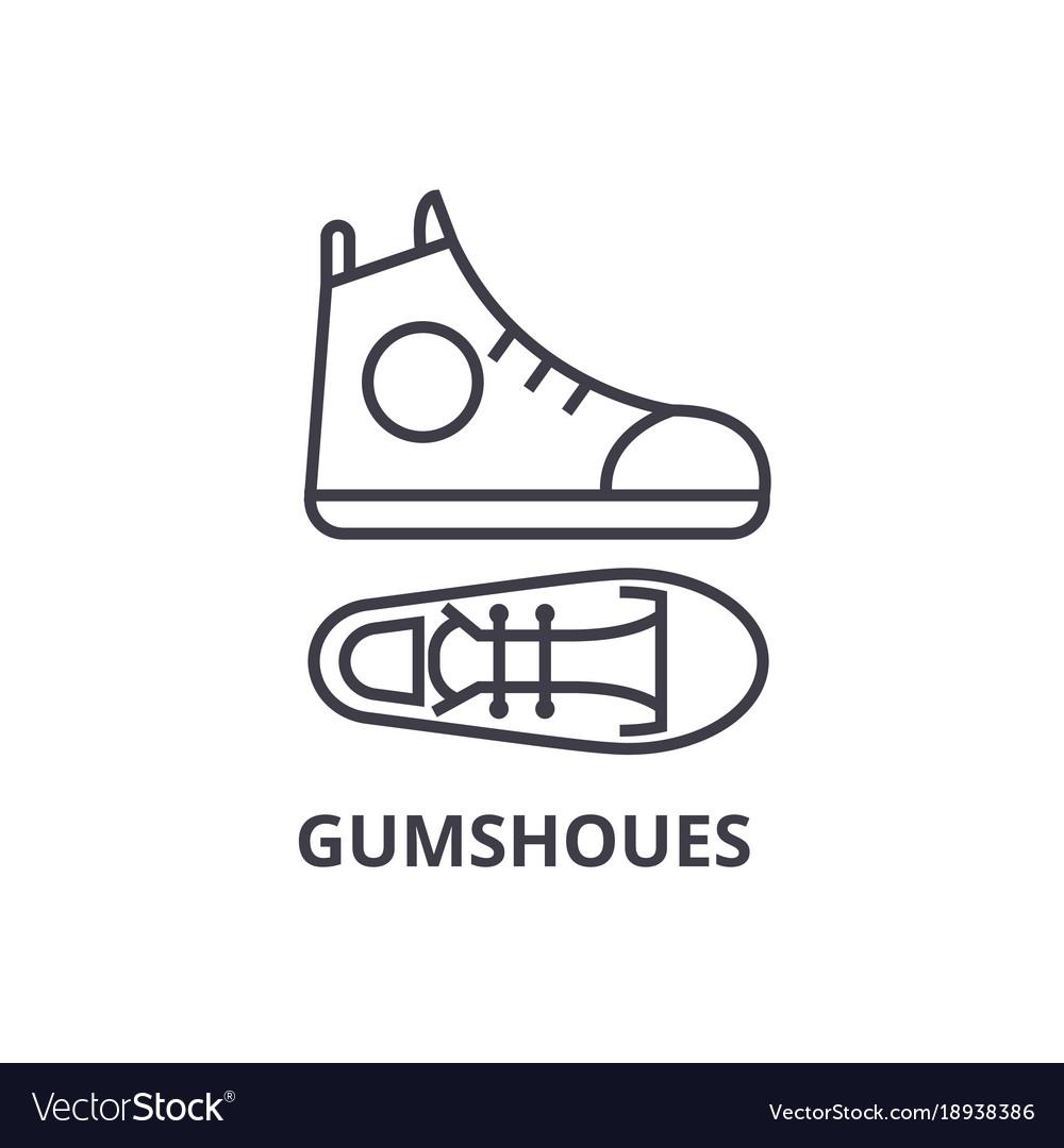 Gumshoes Line Icon Outline Sign Linear Symbol Vector Image