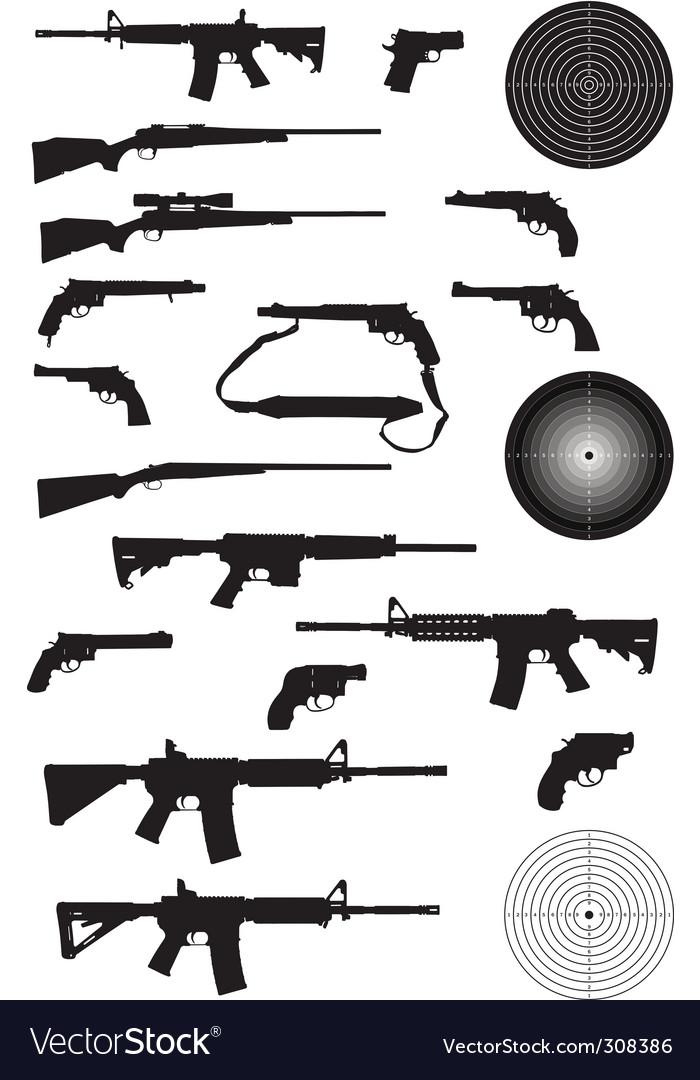 Gun silhouette collection