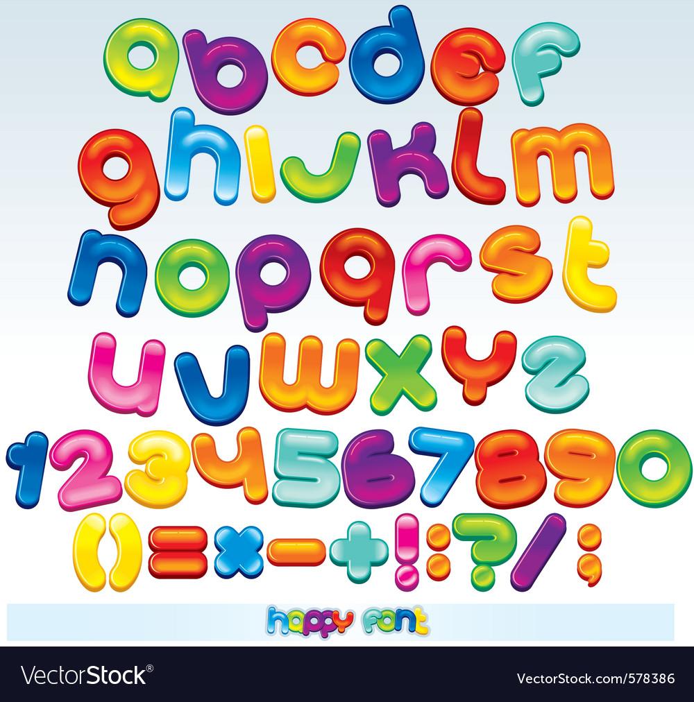 Joyful cartoon font