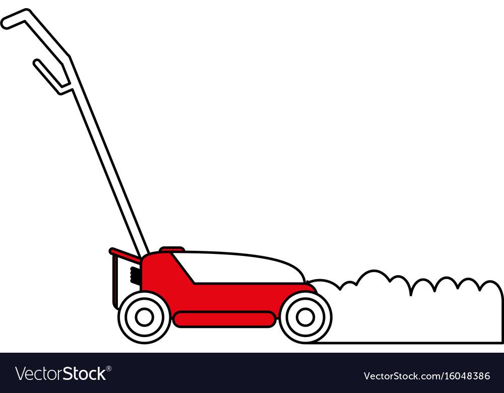 Lawn mower gardening tool icon image