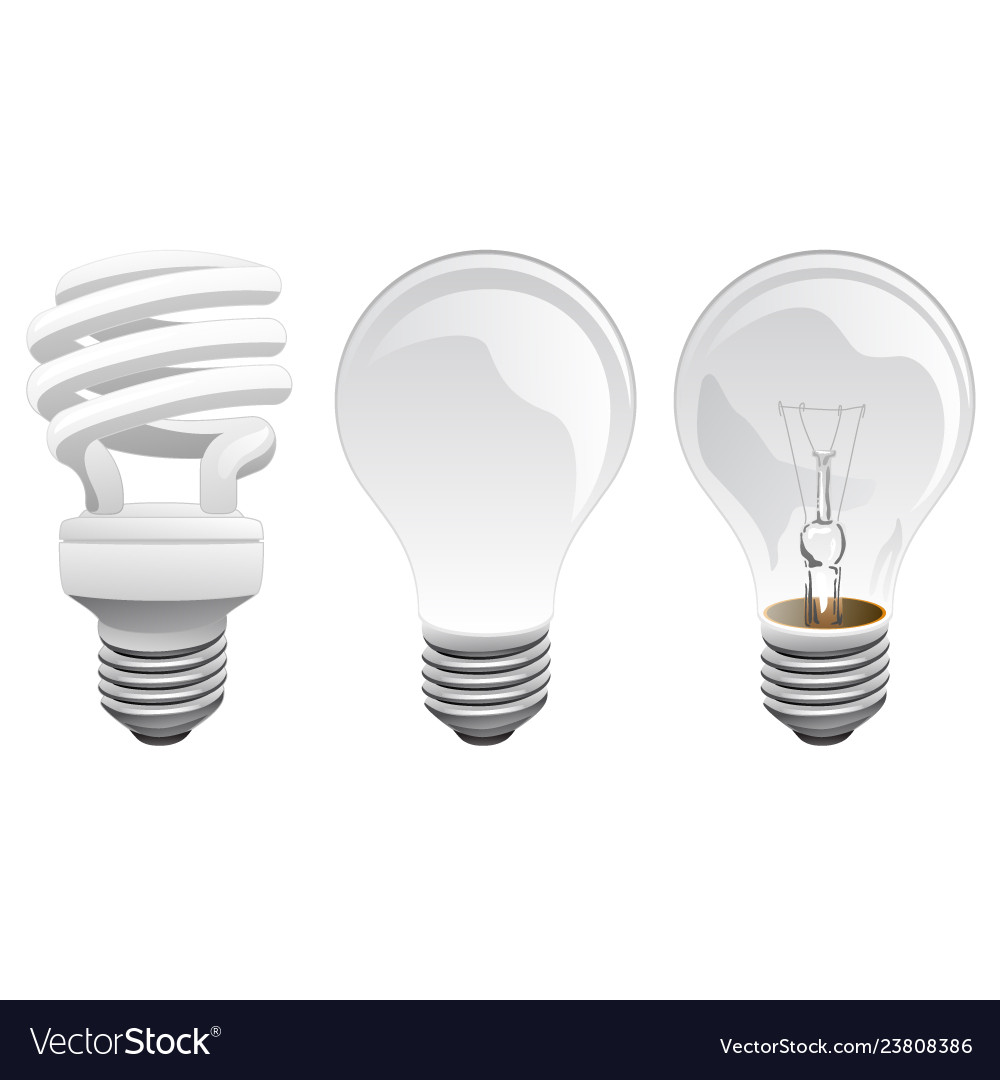 Led and incandescent light bulbs
