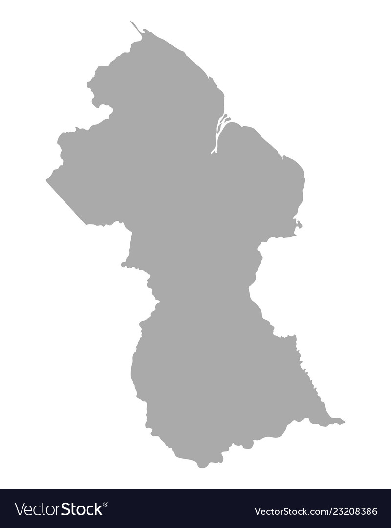 Map Of Guyana Royalty Free Vector Image Vectorstock
