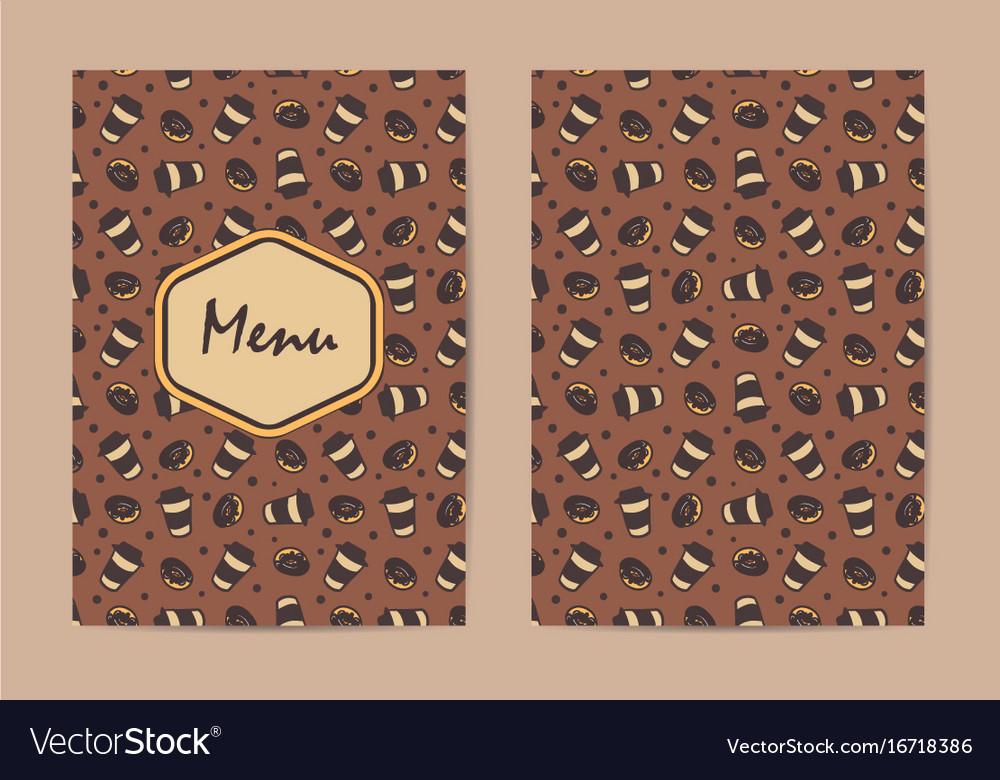 Menu template coffee restaurant brochure coffee vector image