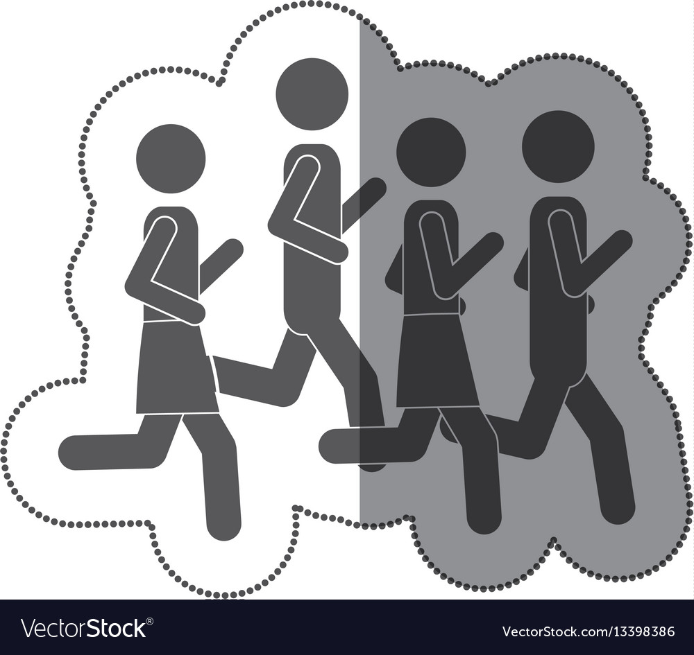 People men jogging icon stock vector image