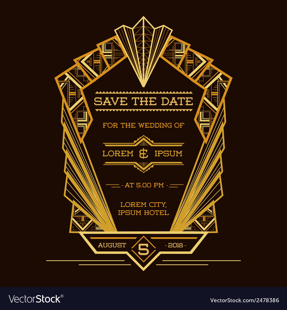 Save the Date - Wedding Invitation Card Royalty Free Vector
