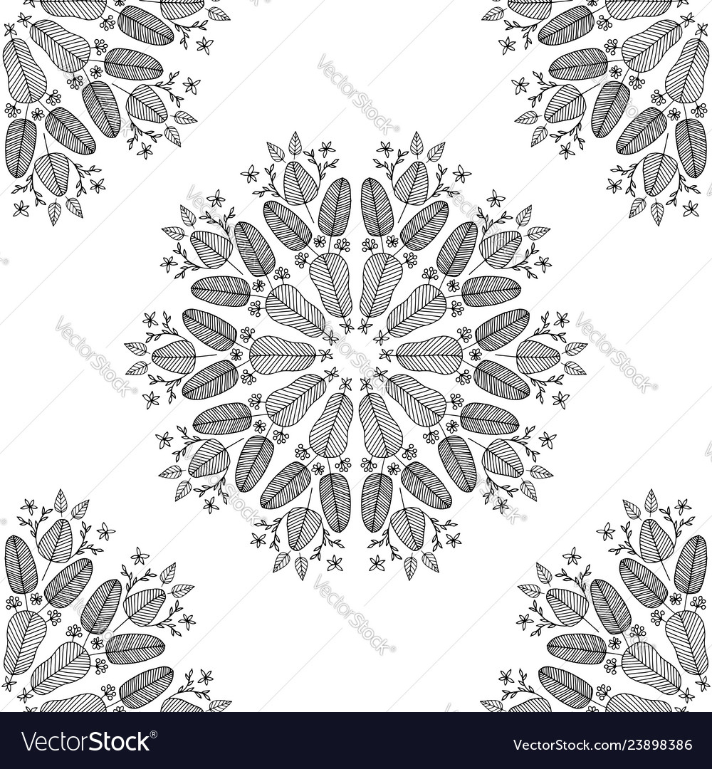 Seamless colorless floral pattern