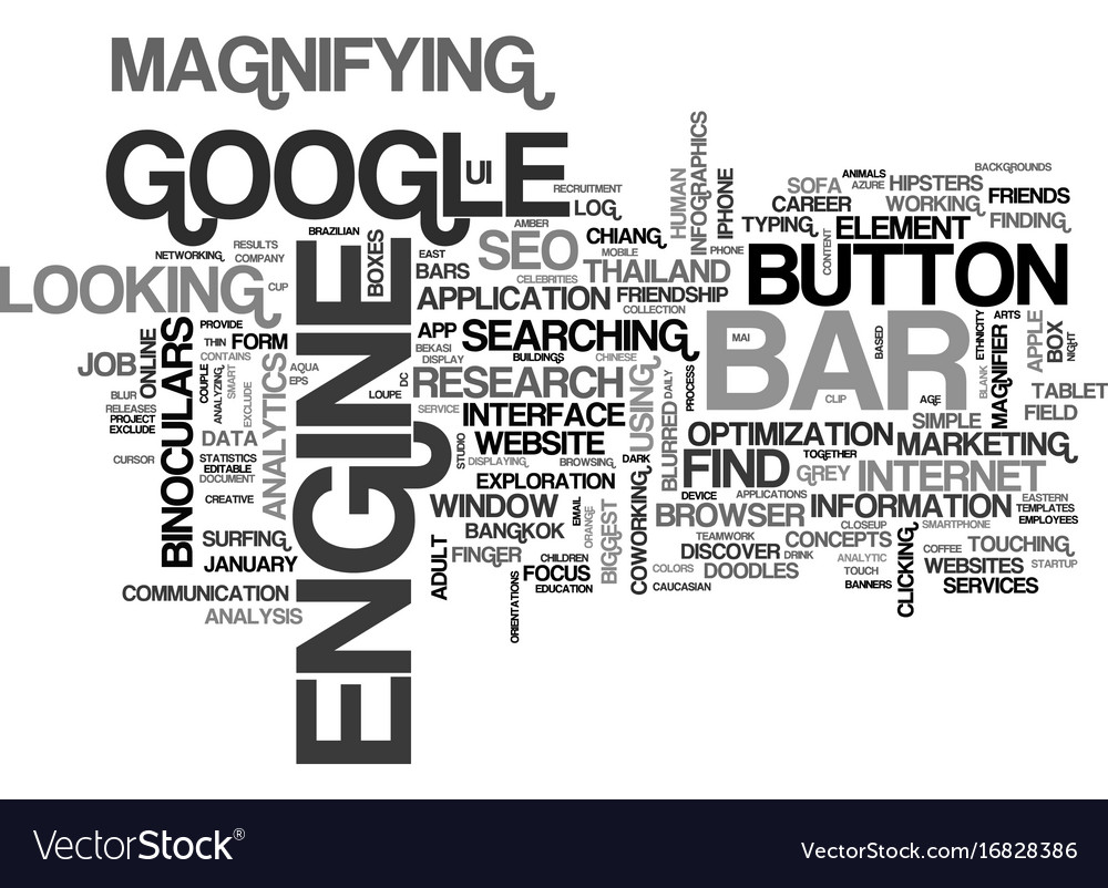 Search word cloud concept
