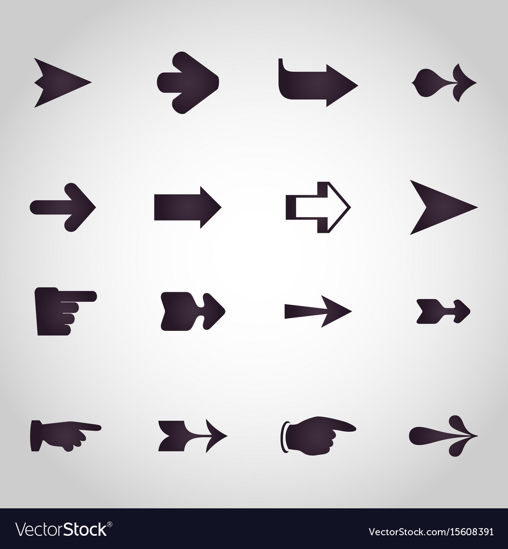 Arrows logo design icon set
