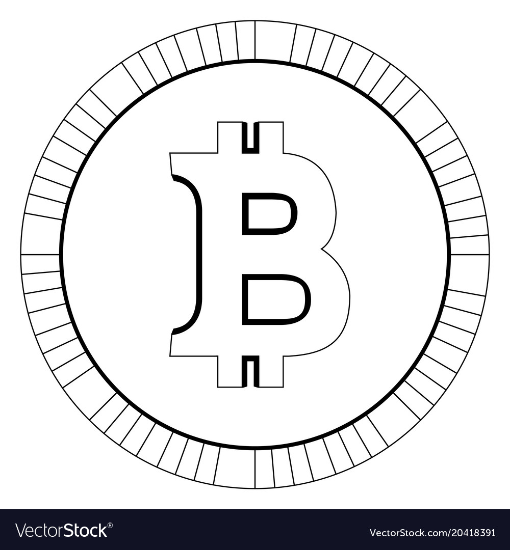 Bitcoin virtual money currency cryptocurrency vector image