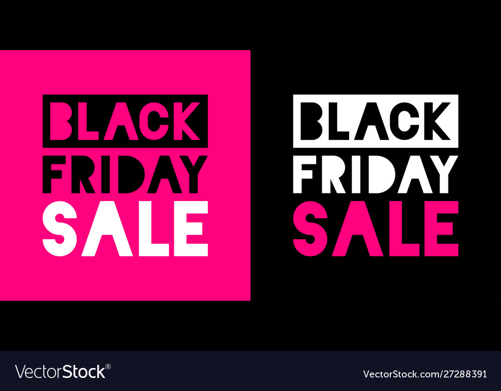 Black friday sale banners pink color background