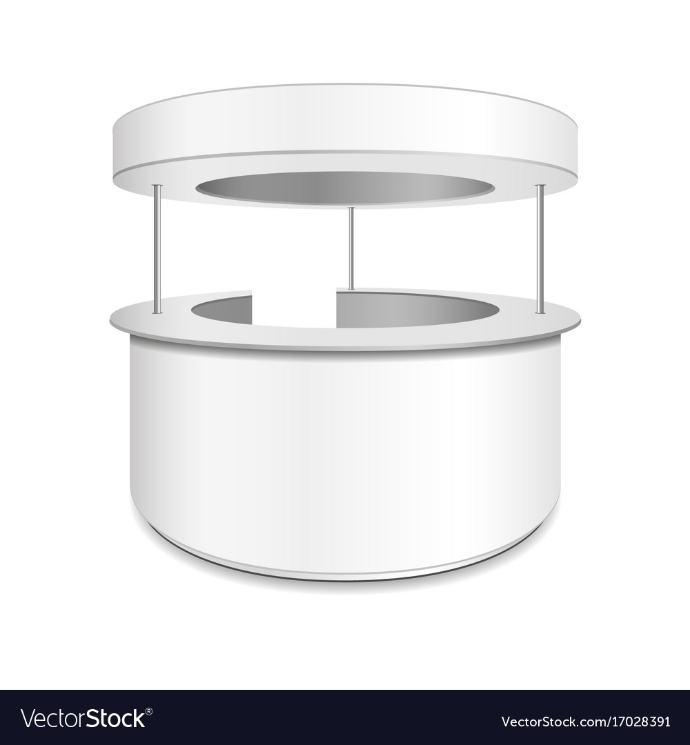 Empty retail stand isolated vector image