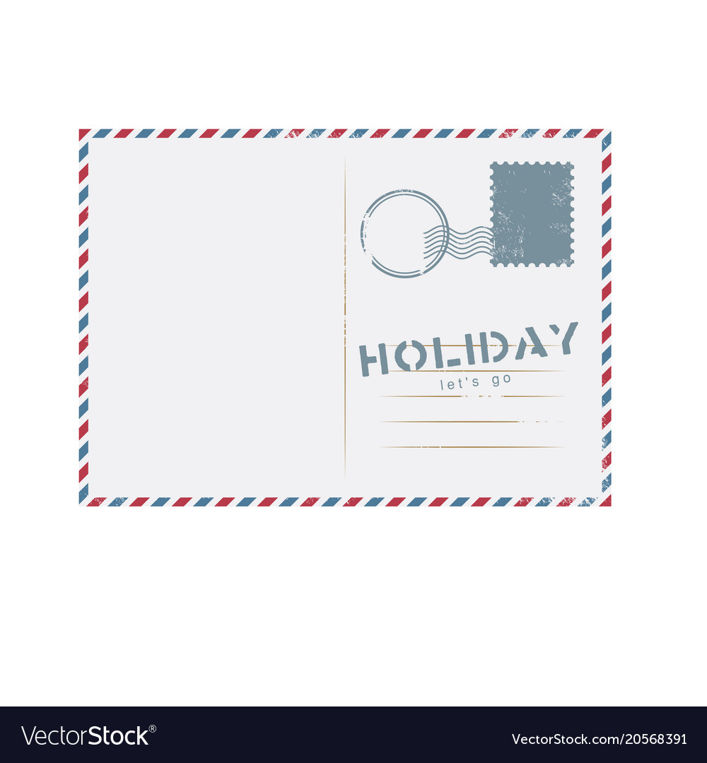 Holiday lets go postcard background image