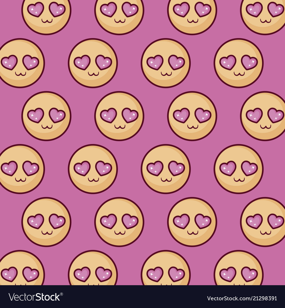 In love emojis pattern