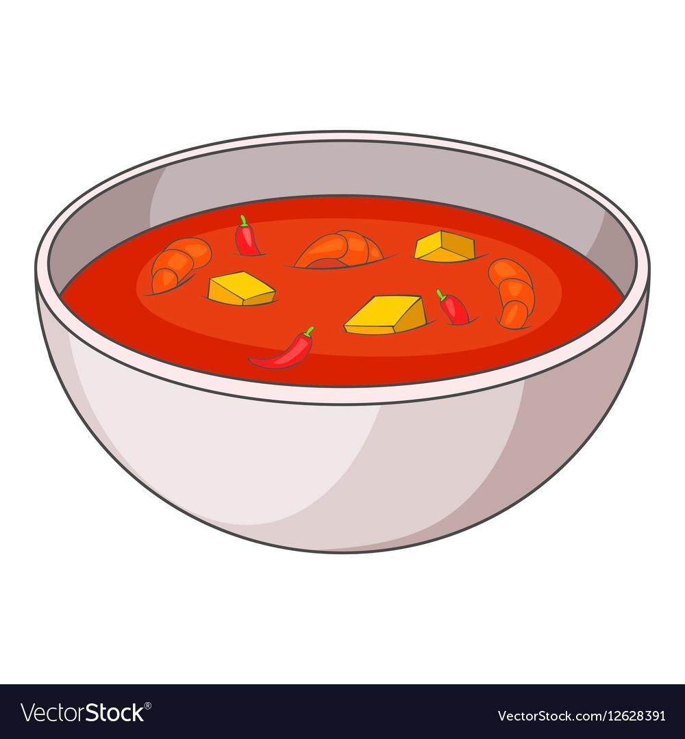 tom yum thai soup icon cartoon style royalty free vector rh vectorstock com cartoon soap bubbles cartoon supermarket