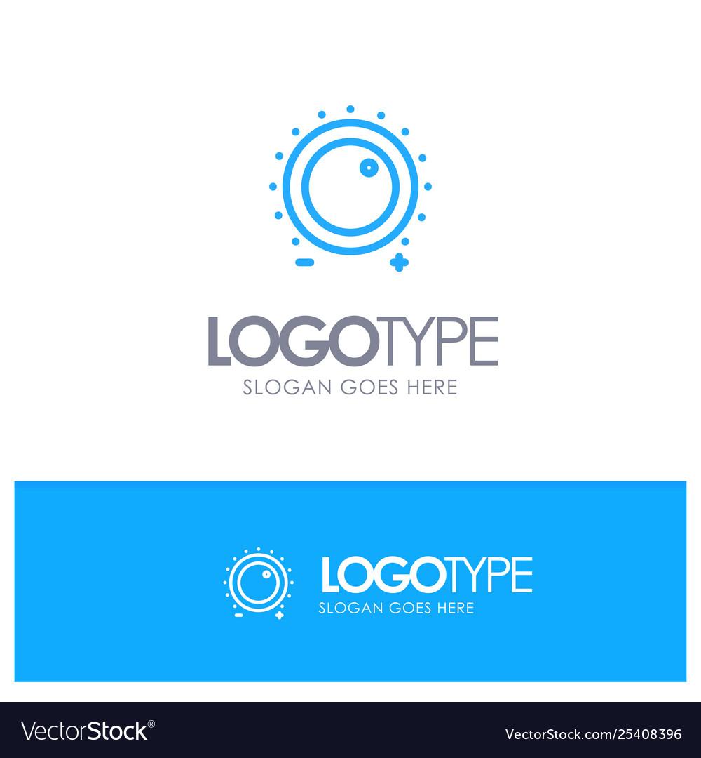Audio control gain level sound blue outline logo