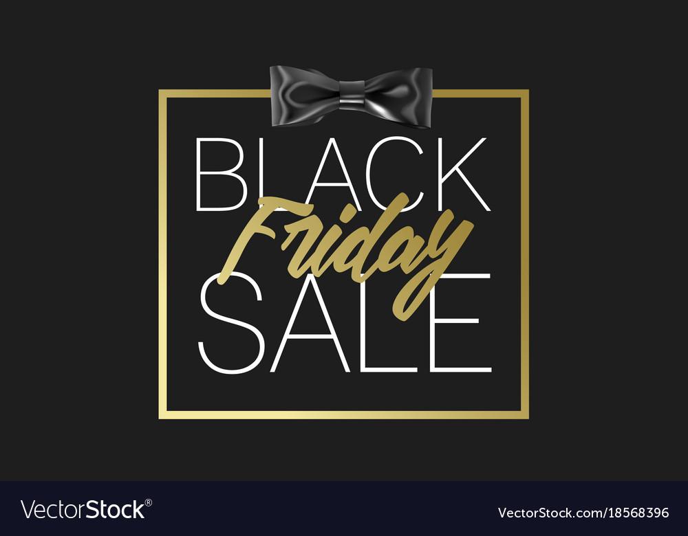 Black friday sale gold banner luxury black