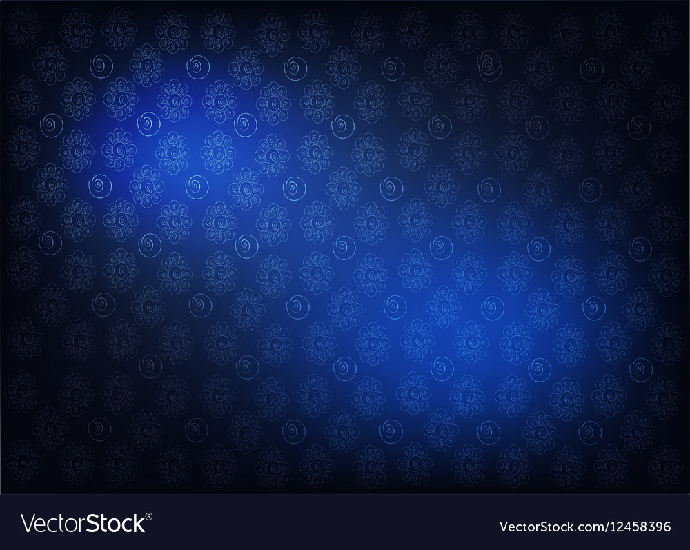 Blue Vintage Wallpaper with Flower Pattern