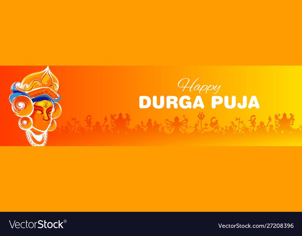 Goddess in happy durga puja subh navratri indian