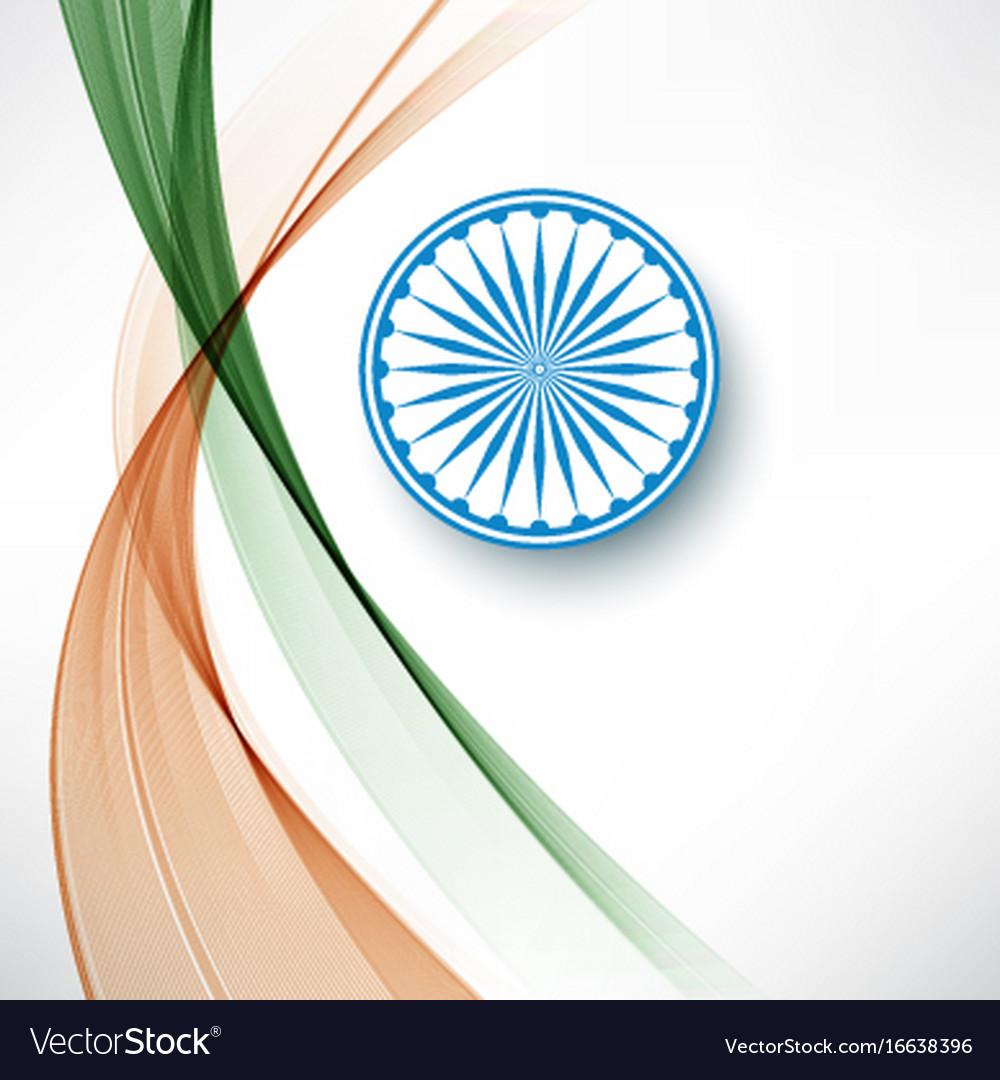 Indian flag color creative wave background