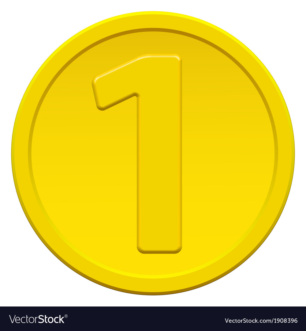 One coin vector image