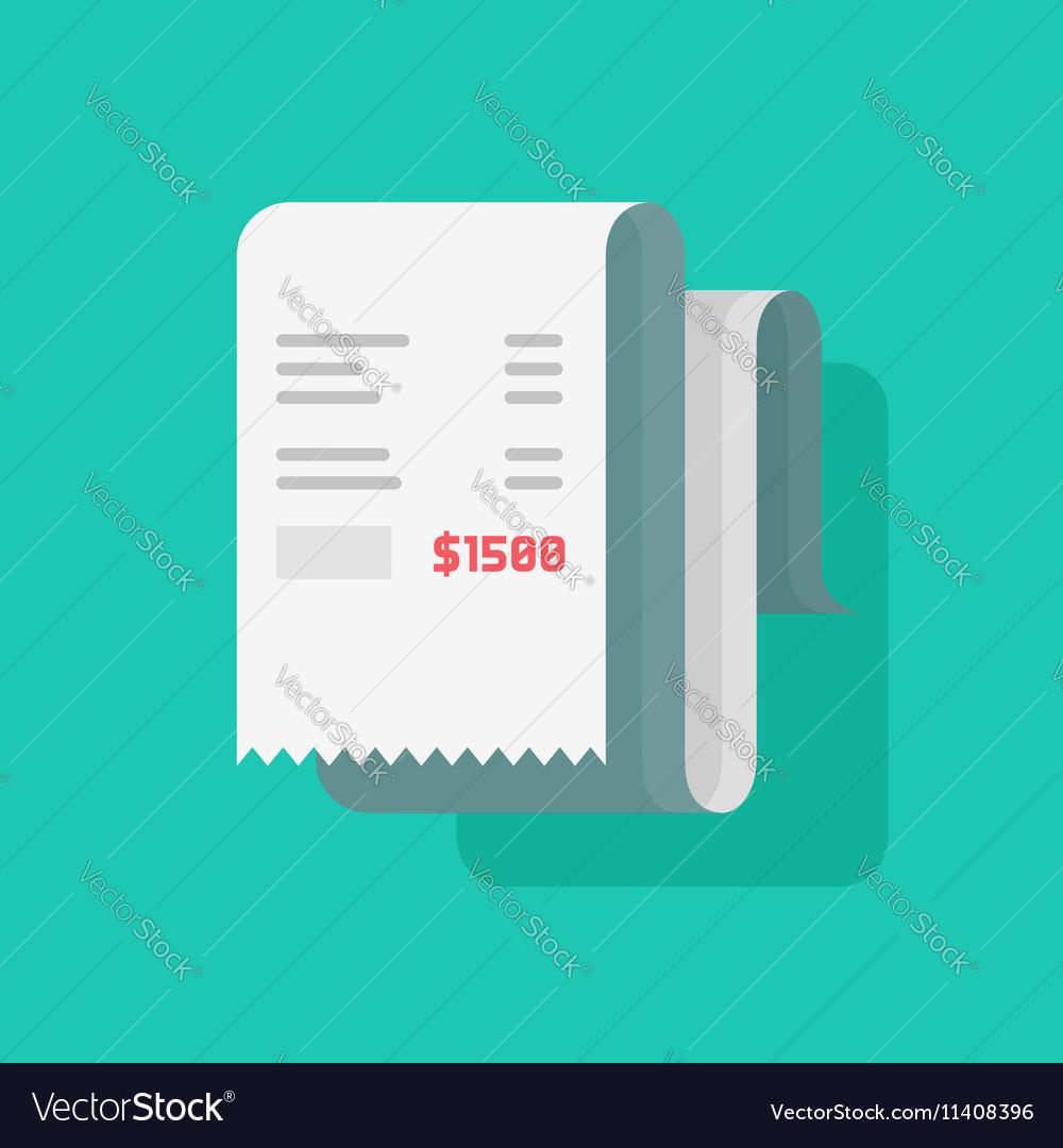 Receipt bill paper invoice