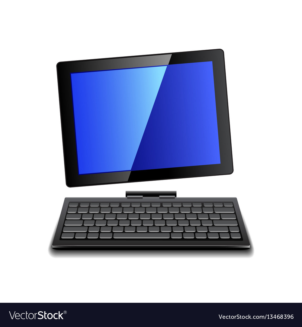 Tablet computer with keyboard isolated