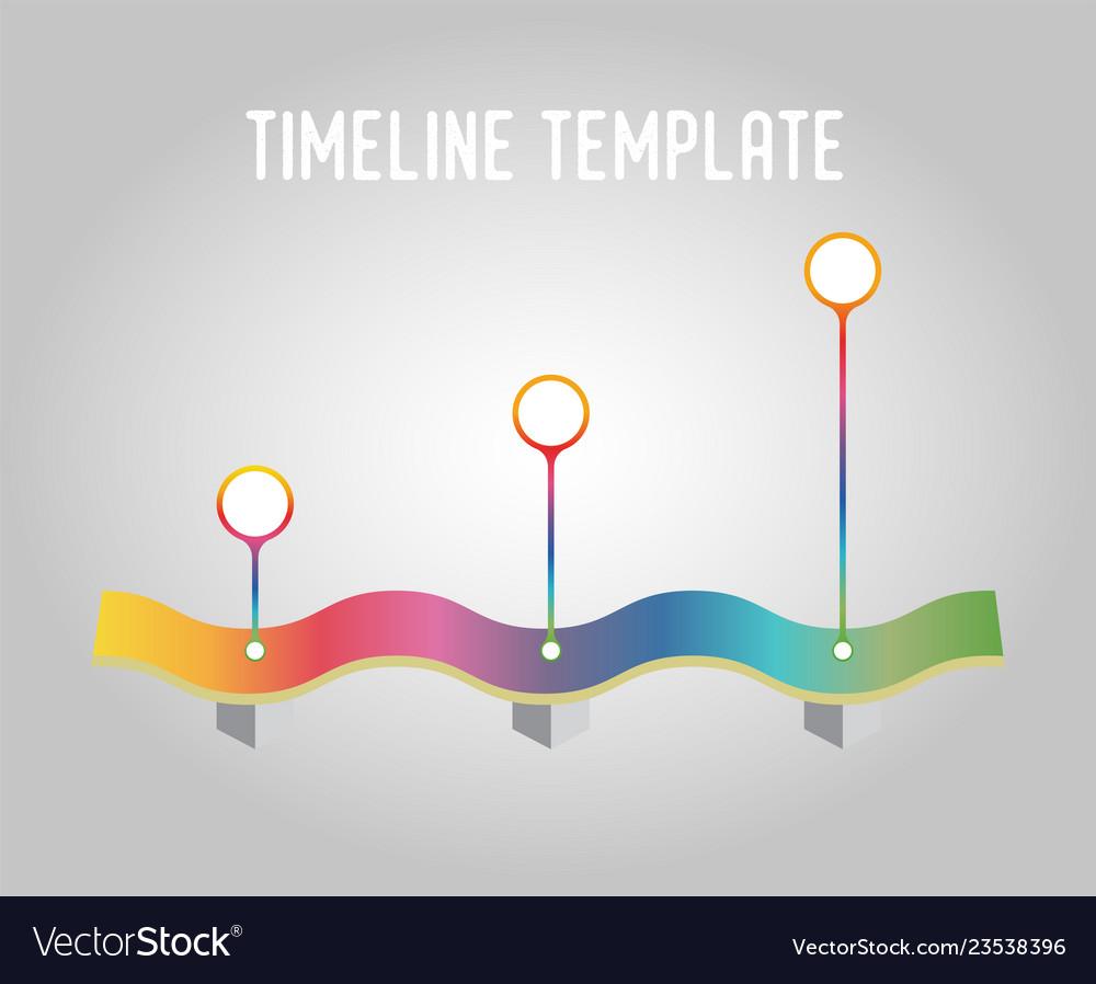 Timeline template gradient infographics