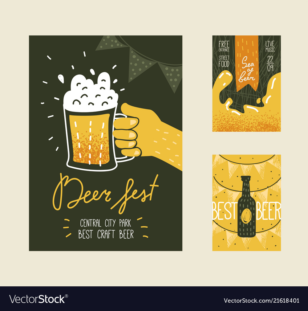Beer festival poster banner placard advertisement