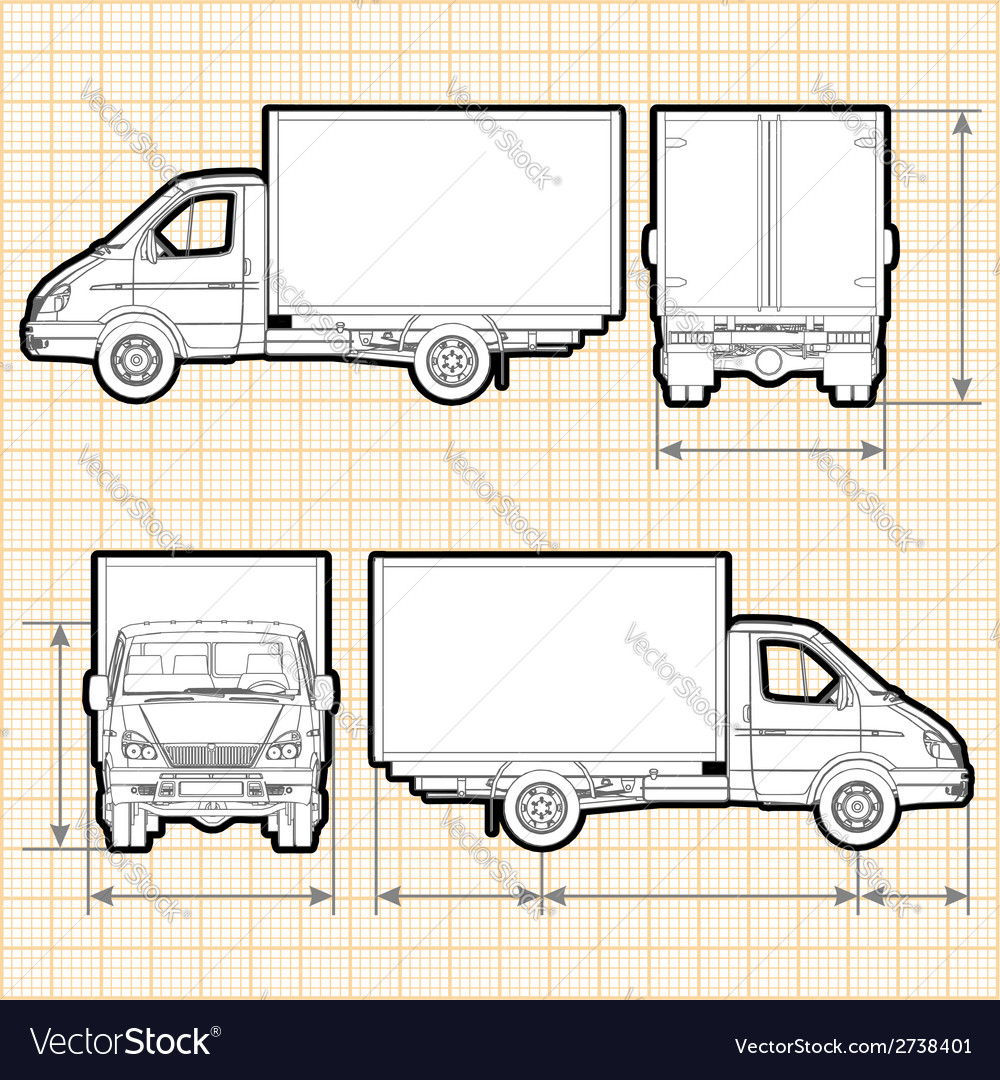 delivery cargo truck vector 2738401 delivery cargo truck royalty free vector image